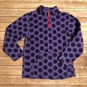 Purple polka dots 1/4 zip sweatshirt EUC